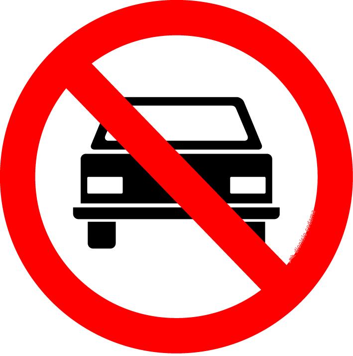 Proibido transito de veiculos automotores