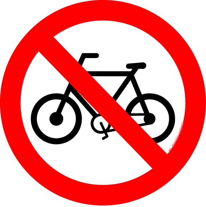 Proibido transito de bicicletas