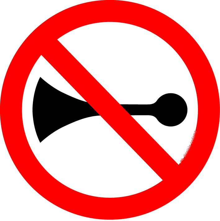Proibido acionar buzina ou sinal sonoro