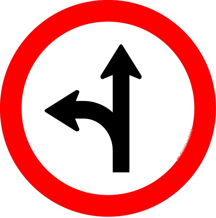 Siga em frente ou a esquerda