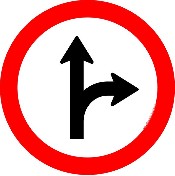 Siga em frente ou a direita
