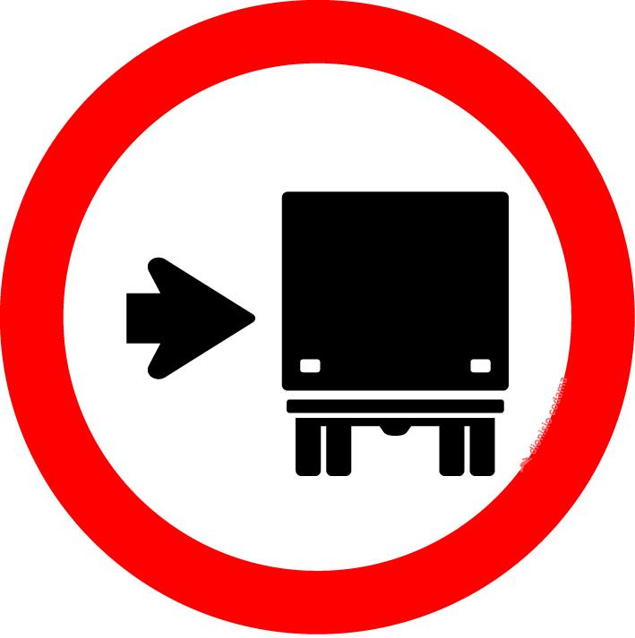 Onibus, caminhoes e veiculos de grande porte, mantenham-se a direita