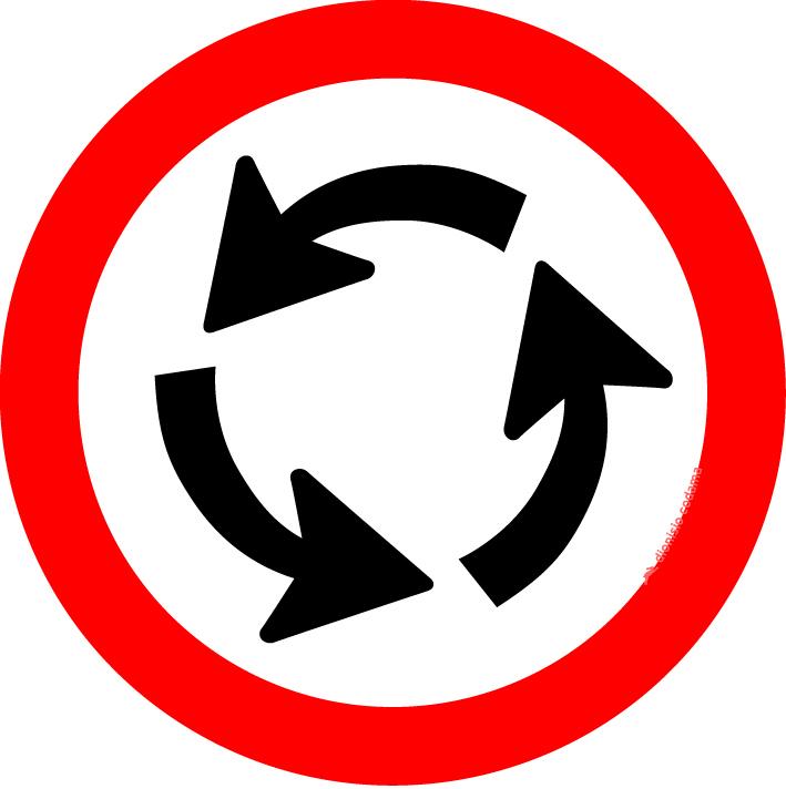 Sentido circular na rotatoria