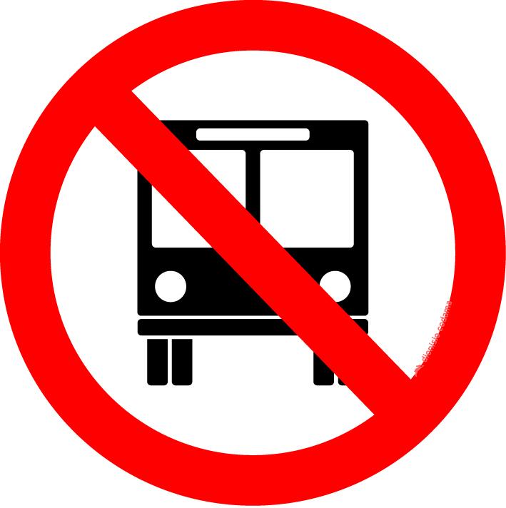 Proibido transito de onibus