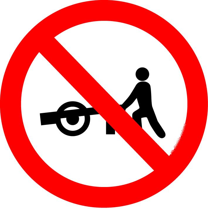 Transito proibido a carros de mao