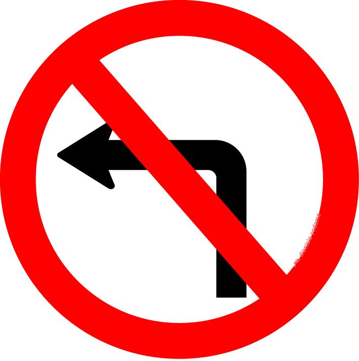 Proibido virar a esquerda