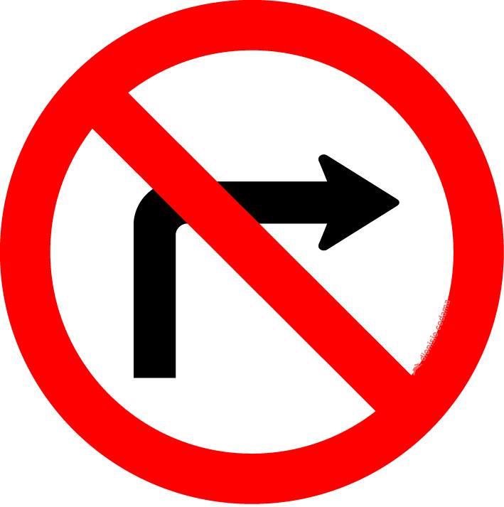 Proibido virar a direita