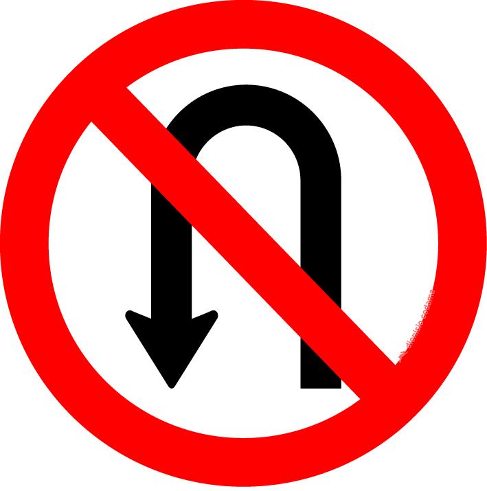Proibido retornar a esquerda