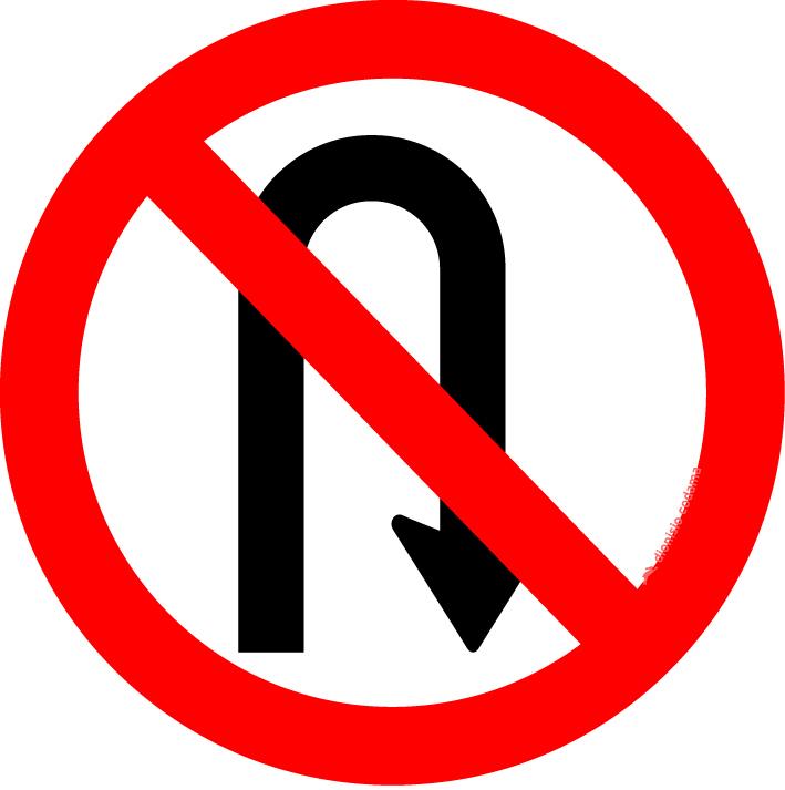 Proibido retornar a direita