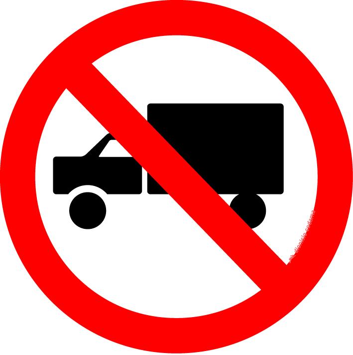 Proibido transito de caminhoes