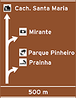 Placa Indicativa de sentido (direçao) - Placa diagramada 01