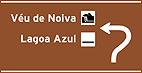 Placa Indicativa de sentido (direçao) - Placa diagramada confirmaçao de saida