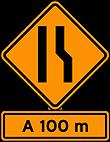 Sinalizaçao de Obras - Estreitamento de pista a direita