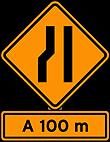 Sinalizaçao de Obras - Estreitamento de pista a esquerda