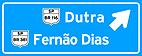 Placa de Orientacao de Destino - Placa indicativa de sentido (direcao) 06