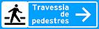 Placa de Servicos Auxiliares - Placa para pedestres 1