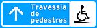 Placa de Servicos Auxiliares - Placa para pedestres 2