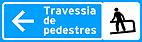 Placa de Servicos Auxiliares - Placa para pedestres 3