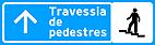 Placa de Servicos Auxiliares - Placa para pedestres 4