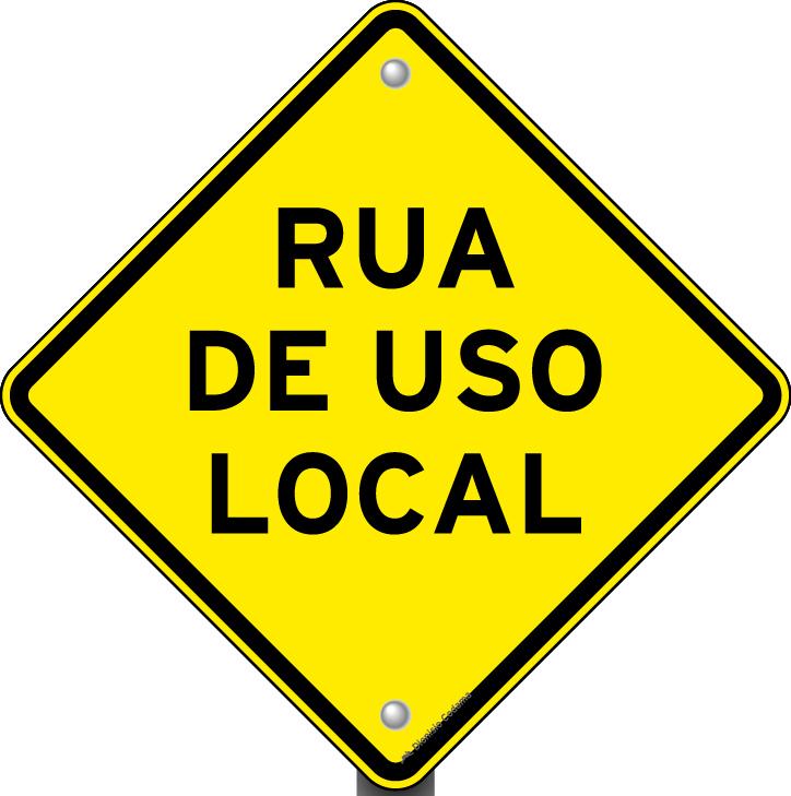 Placa de tr nsito rua de uso local - Placas de flexinduccion ...