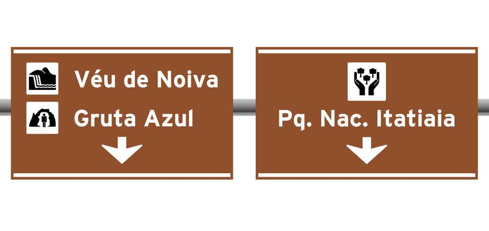 Placas Indicativas de sentido (direcao) Posicionamento na pista
