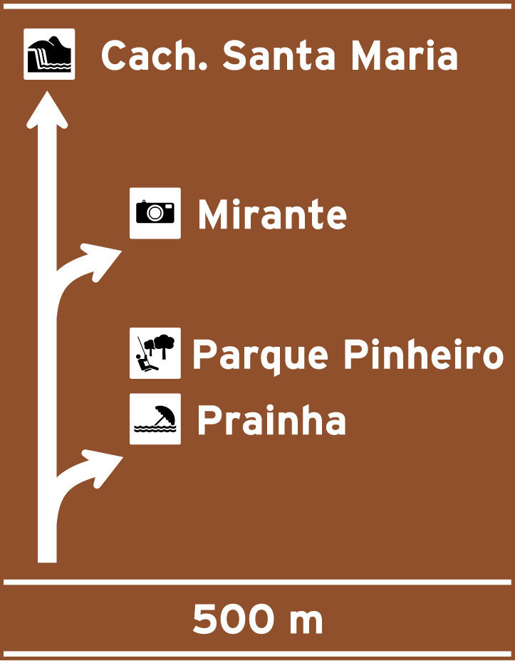 Placa Indicativa de sentido (direcao) Placa diagramada 1