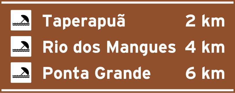 Placas de Atrativos turisticos Placa Indicativa de distancia
