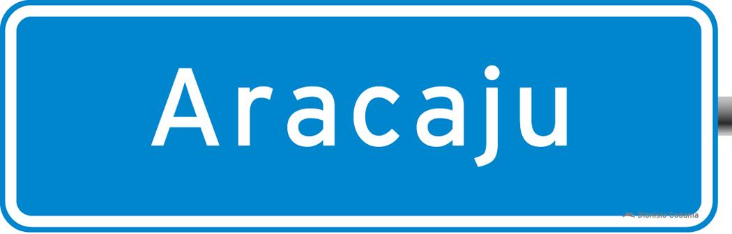 Placa de trânsito - Placa de Identificação de Municípios 2