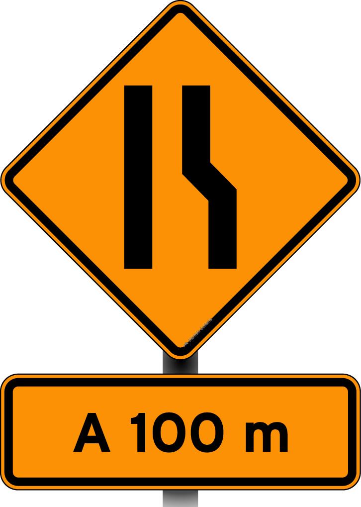 Obras estreitamento pista a direita