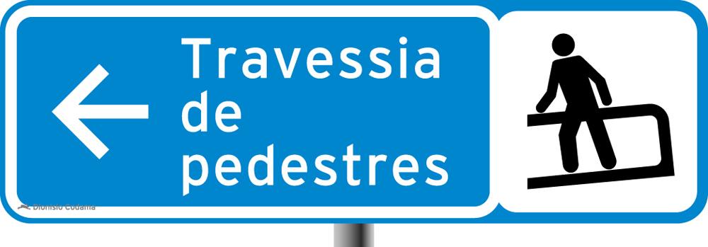 Placa para pedestres 3