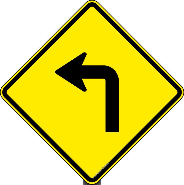 Curva acentuada a esquerda