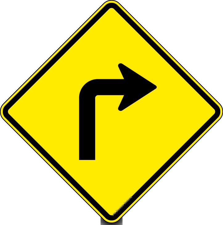Curva acentuada a direita