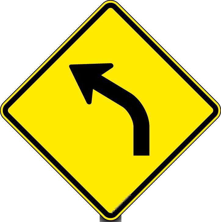 Curva a esquerda