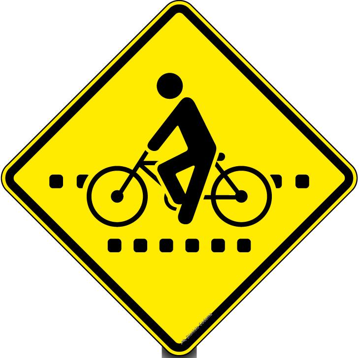Passagem sinalizada de ciclistas