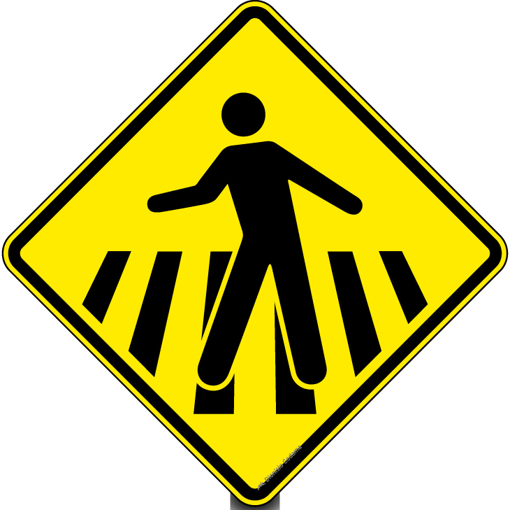 Passagem sinalizada de pedestres