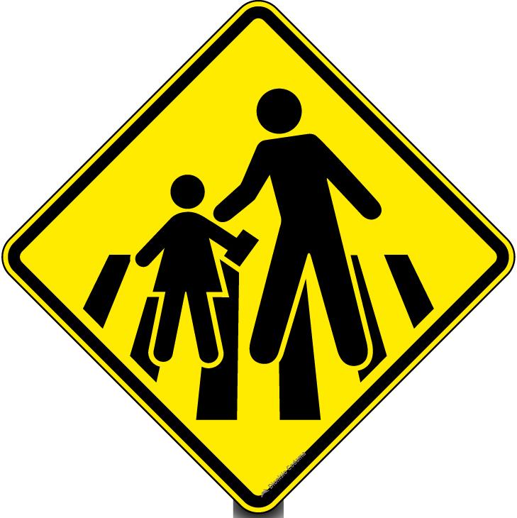 Passagem sinalizada de escolares