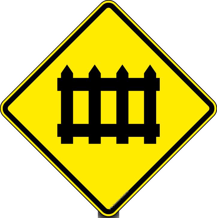 Passagem de nivel com barreira