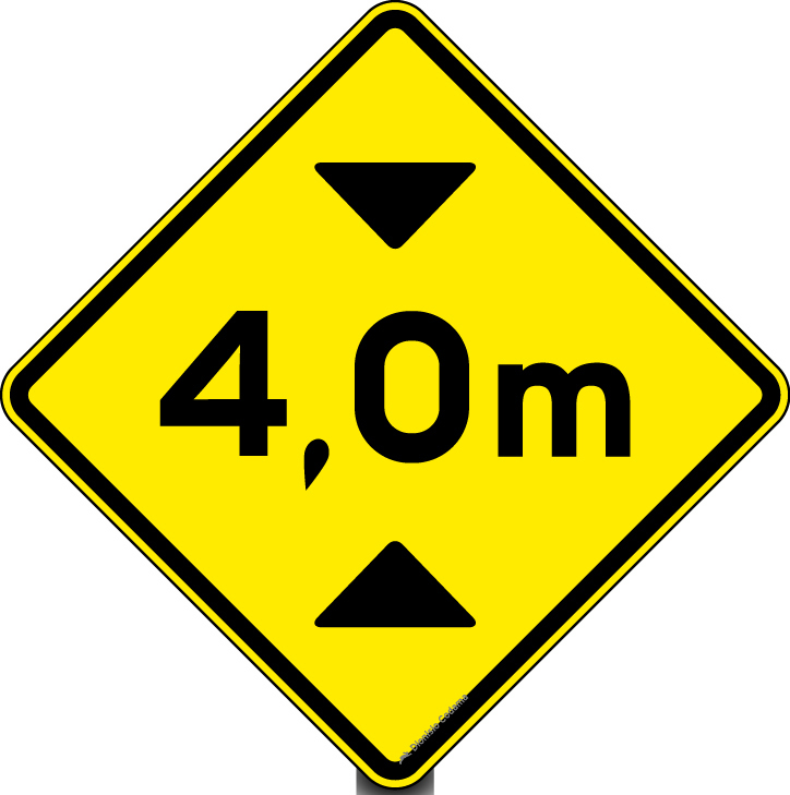 Placa de trânsito - A-37 - Altura limitada